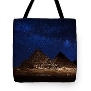 Pyramids Milky Way Tote Bag