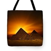 Pyramids Sunset Tote Bag