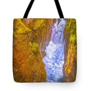 Pyrenees Spanish Bridge Waterfall Tote Bag