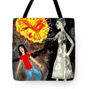 Pyro The Firebird Tote Bag by Sushila Burgess