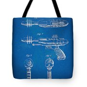 Pyrotomic Disintegrator Pistol Patent Tote Bag