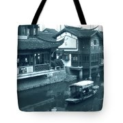 Qibao Ancient Town - A Peek Into The Past Of Shanghai Tote Bag by Christine Till