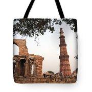 Qtub Minar, New Delhi India Tote Bag