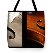 Quadriptych Of Musical Curves Tote Bag