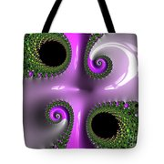 Quadruple Green And Pink Tote Bag