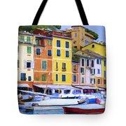 Quayside At Portofino Tote Bag