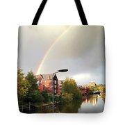 Quayside Double Rainbow Tote Bag