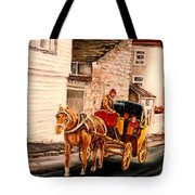 Quebec City Carriage Ride Tote Bag
