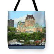 Quebec City Waterfront 6324 Tote Bag