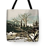 Quebec In January Tote Bag