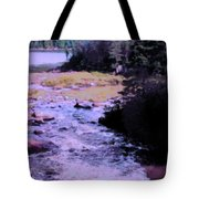 Quebec River Tote Bag