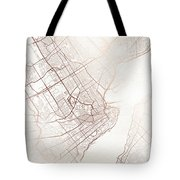 Quebec Street Map Colorful Copper Modern Minimalist Tote Bag