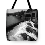 Quechee, Vermont - Falls 3 Bw Tote Bag