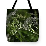 Queen Anne Lace In The Wind Tote Bag
