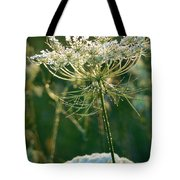 Queen Anne's Lace In Green Vertical Tote Bag