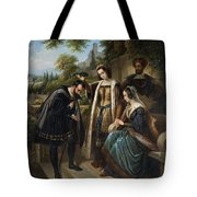 Queen Isabella And Columbus Henry Nelson Oneil Tote Bag