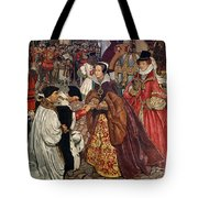Queen Mary And Princess Elizabeth Entering London Tote Bag by John Byam Liston Shaw
