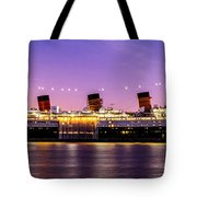 Queen Mary At Dusk_pano Tote Bag