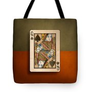 Queen Of Spades In Wood Tote Bag