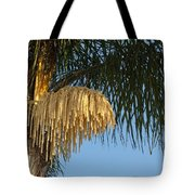 Queen Palm Tree Flower Tote Bag
