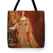 Queen Victoria Taking The Coronation Oath 28 June 1838 Tote Bag