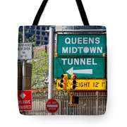 Queens Midtown Tunnel Tote Bag