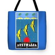 Queensland Great Barrier Reef - Restored Vintage Poster Tote Bag