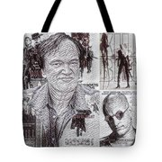 Quentin Tarantino Poster Drawing Tote Bag