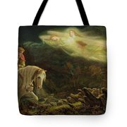 Quest For The Holy Grail Tote Bag by Arthur Hughes