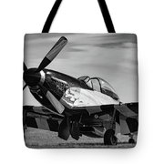 Quick Silver In Black And White Tote Bag