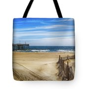 Quiet Day On The Beach Tote Bag