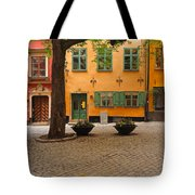 Quiet Little Square In Old Gamla Stan In Stockholm Sweden Tote Bag