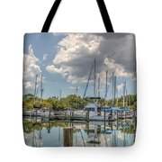 Quiet Marina Tote Bag