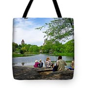 Quiet Moment In Central Park Tote Bag