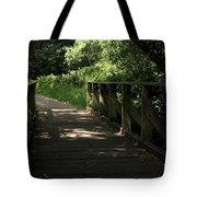 Quiet Path Bridge Tote Bag