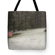 Quiet Remembrance Quantico National Cemetery Tote Bag