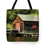 Quiet Sunapee Fishing Cabin Tote Bag
