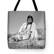 Quiet Time In Black And White Tote Bag
