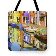 Quiet Waterway Reflections Tote Bag