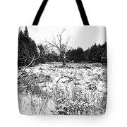 Quiet Winter Black And White Tote Bag