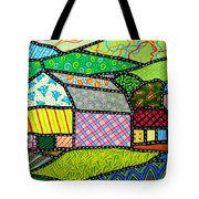 Quilted Bath County Barn Tote Bag
