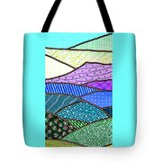 Quilted Mountain Tote Bag
