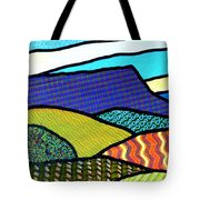 Quilted Mountain Peak Tote Bag