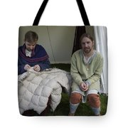 Quilters At Work Tote Bag