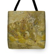 Quinces, Lemons Pears And Grapes Paris, September - October 1887 Vincent Van Gogh 1853  1890 Tote Bag