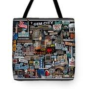 Quincy, Il Collage Tote Bag