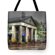 Quincy Market On A Wet Day Tote Bag