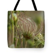 Quirky Red Squiggly Flower 2 Tote Bag