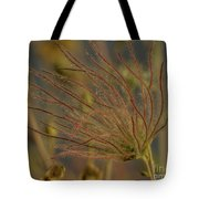 Quirky Red Squiggly Flower 4 Tote Bag