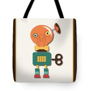 Quirky Retro Wind-up Toy Tote Bag